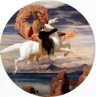 Perseus on Pegasus Hastening to the  Rescue