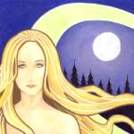 """""""Lady and the Moon"""" by JJSketch"""