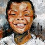 """Boy Smiling Oil Painting by Ginette Callaway"" by GinetteCallaway"