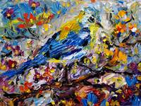 Songbird Symphony Oil Painting by Ginette Callaway