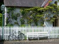 Bicycle and Cottage