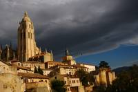 Storm over Cathedral of Segovia