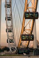 Singapore Flyer at Sunset