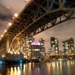 """Granville Street Bridge at Night"" by timbarton"