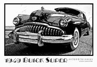 1949 Buick Super - Black & White