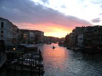 Sunset on the Grand Canal, Venice, Italy