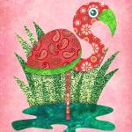 """Paisley Flamingo"" by sandygrafik_arts"