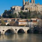 """Beziers Cathedral and the river Orb"" by ImageArt-Photography"