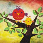 """Love Birds"" by sandygrafik_arts"