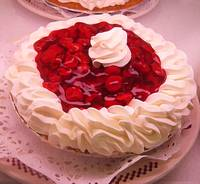 Cherry Pie with Whip Cream