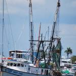 """boat in marina - Ft Myers FL"" by lwoodburn"