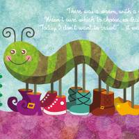 Catty Caterpillar Art Prints & Posters by SANDRA VARGAS