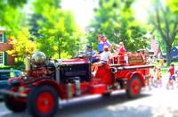Tilt Shift Mount Clemens Fire Engine