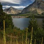 """Swiftcurrent Lake and Many Glacier Hotel in Glacie"" by CraigAllen"