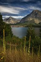 Swiftcurrent Lake and Many Glacier Hotel in Glacie