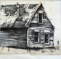 ''Homestead #1'' Graphite Drawing (Approx. 24''x24