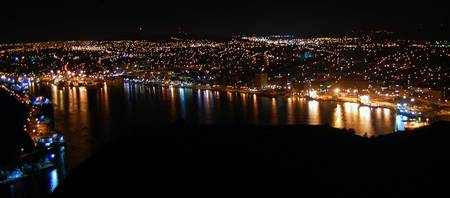 St. John's harbour night