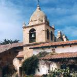 """Carmel Mission Tower"" by worldwidearchive"