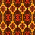 """Ruby Glow Pattern"" by AmyVangsgard"