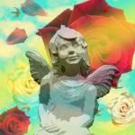"""""""Angel Statue in the Garden Summer"""" by victoriasponge"""