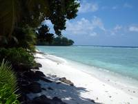 On the beach in Diego Garcia
