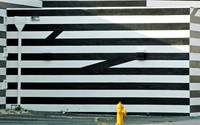 Miami Mod Black and White Striped Building with Fi