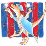 """Patriotic Raptor"" by JJSketch"