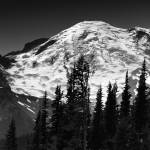 """Mount Rainier in Black and White  by Brendan Reals"" by BrendanReals"