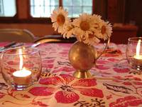 Daisies by candlelight