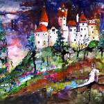 """Bran Castle - Transylvania Original Painting by Gi"" by GinetteCallaway"