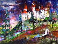 Bran Castle - Transylvania Original Painting by Gi