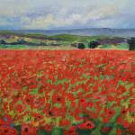 """Red Oriental Poppies"" by creese"