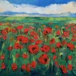 """Field of Red Poppies"" by creese"
