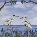 """herons"" by sarahkdesigns"