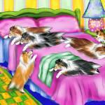 """""""Sheltie Pink Comfort Shetland Sheepdog"""" by danesrus"""