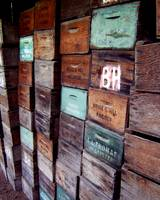 Wooden Produce Boxes