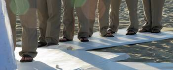 Flip Flops at Beach Wedding