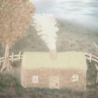Hazy Cabin by Gary Miles