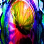 """Bottom of Green Glass Sugar Bowl 2 JudyMarisa"" by JudyMarisa"