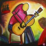 """Blues Guitar Player"" by widdart"