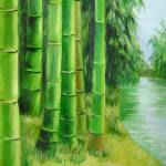 """Bamboos by the river"" by zhenlian"