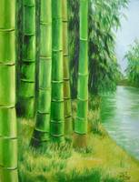 Bamboos by the river