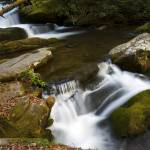 """Rushing Water in Great Smoky Mountains Nat. Park"" by BrendanReals"