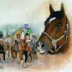 """Horse Portrait,Barbaro ,,Kentucky Derby IV"" by Texaslady"