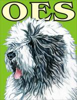 Green Pop Pup Old English Sheepdog