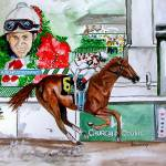 """Horse Portrait,Funny Cide Kentucky Derby 2003"" by Texaslady"