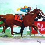 """Horse portrait,Rags-To-Riches Belmont 2007"" by Texaslady"