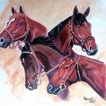 """Horse Portraits,Whirlaway, Count, Fleet Assault, C"" by Texaslady"