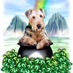 """Airedale Terrier Pot of Gold St Patrick"