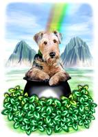 Airedale Terrier Pot of Gold St Patrick's Day